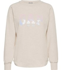 gap shine tunic sweat-shirt tröja beige gap