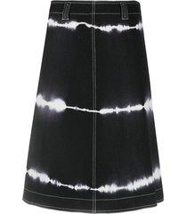 courrèges pre-owned 2000s tie-dye a-line skirt - black