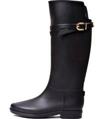 botas lluvia impermeable infinity buckle bottplie - negro
