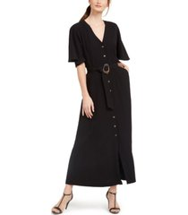 calvin klein belted maxi dress
