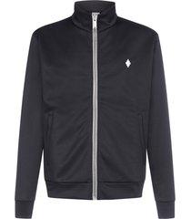 marcelo burlon cross blend-cotton zip track suit