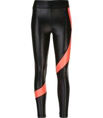 koral pista infinity contrasting-stripe leggings - black
