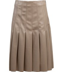 karl lagerfeld pleated faux leather skirt