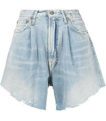 r13 damon pleated denim shorts