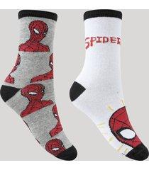 kit de 2 meias infantis cano médio homem aranha multicor
