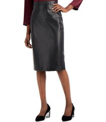 alfani faux leather pencil skirt, created for macy's