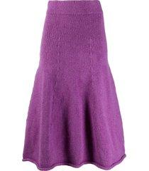 christian wijnants kuna knitted full skirt - purple