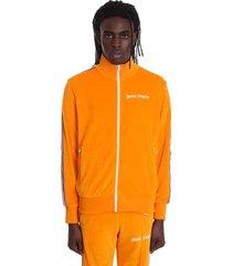 palm angels sweatshirt in orange cotton