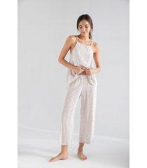 pantalon capri  1395012l estampado 100%viscosa  options intimate
