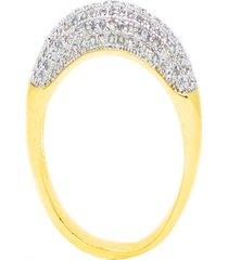 anel kumbayá aparador de aliança venice bombê médio semijoia banho de ouro 18k cravação de zircônias