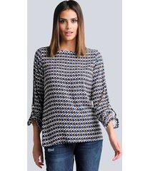 blouse alba moda marine::cognac::offwhite
