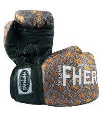 luva boxe muay thai top fheras -  14 oz cobra 2 .