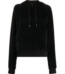 haider ackermann velour sweatshirt - black