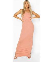 tall geribbelde maxi jurk, blush