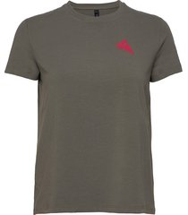 runa commitment ss tee w's t-shirts & tops short-sleeved grå klättermusen