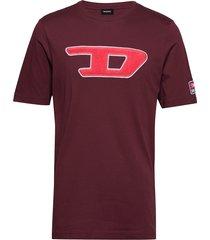 t-just-division-d t-shirt t-shirts short-sleeved röd diesel men