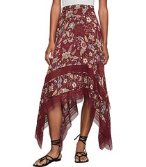 floral toile handkerchief skirt