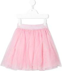 monnalisa elastic waist tutu skirt - pink