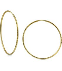 argento vivo medium endless hoop earrings in 18k gold-plated sterling silver, 2""