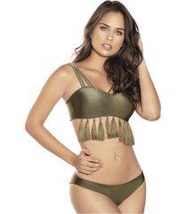 vestido de baño verde militar mujer poliamida