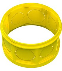 """prolongador em pvc para caixa de luz octogonal flex 4x4"""" amarela"""