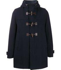 herno virgin wool duffle coat - blue