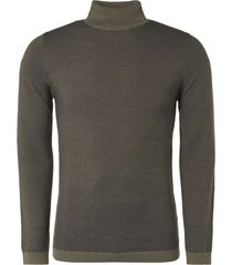 no excess pullover turtleneck jacquard mini s steel