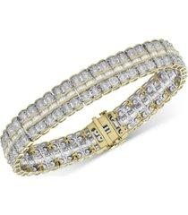 diamond double row fancy link bracelet (5 ct. t.w.) in 14k gold