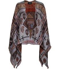 etro ikat cape in wool blend