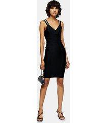 black bandage midi dress - black