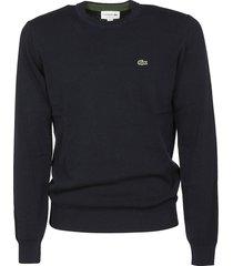 lacoste logo embroidered sweatshirt