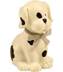 escultura decorativa de resina cachorro fun