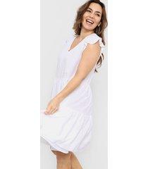 vestido blanco vindaloo frunces