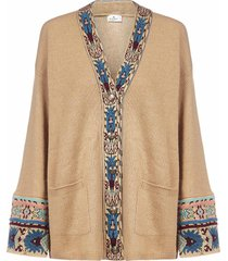 etro dongola wool, silk and cashmere cardigan