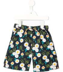 velveteen luca floral printed shorts - botanical print
