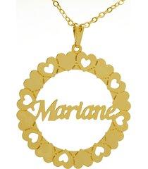 gargantilha horus import pingente manuscrito mariane banho ouro amarelo