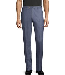 easy-fit wool-blend flat-front pants