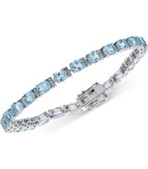 amethyst oval tennis bracelet (9-1/2 ct. t.w.) in sterling silver (also in blue topaz, rhodolite garnet, & multi-gemstone)