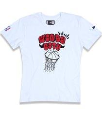 camiseta new era regular chicago bulls branco - tricae