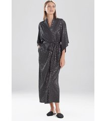 natori decadence sleep/lounge/bath wrap/robe, women's, grey, size s natori