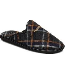 textile midas slippers tofflor svart hush puppies