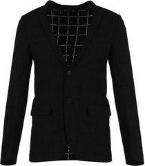 black perforated blazer
