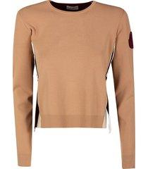 moncler sleeve patch sweatshirt