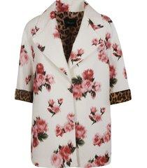 floral print all-over oversized blazer blumarine