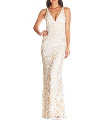 women's dress the population sharon lace evening gown