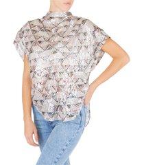 camicia donna maniche corte blusa
