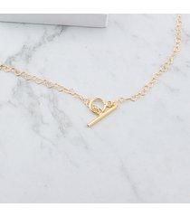 łańcuszek w serca z ozdobnym zapięciem złoty