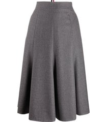 thom browne high-waisted skirt - grey