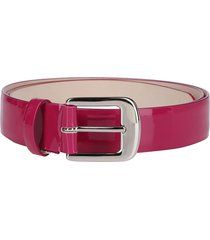 maison margiela fuchsia leather belt