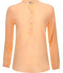 blusa manga larga color naranja, talla 14